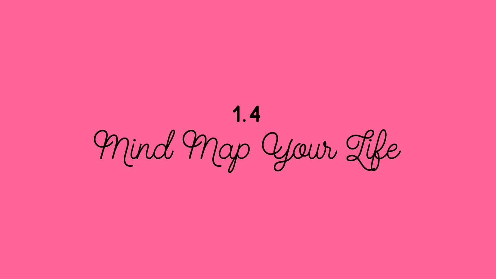 1.4 Mind Map Your Life