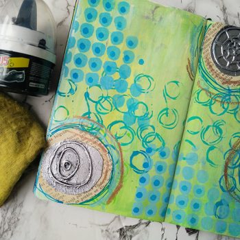 Creating distressed metallic elements in your art journal