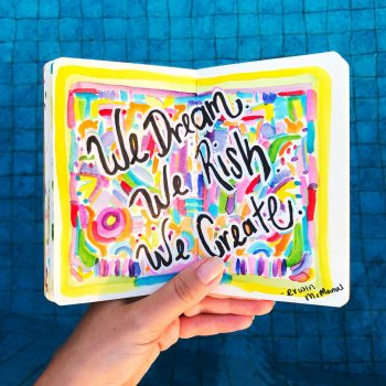 Using Media In Your Art Journal In Action
