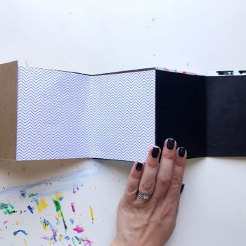 Make a quick accordion art journal