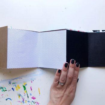 Make a quick accordion art journal