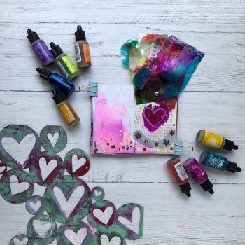 Living wholehearted lives: use alcohol inks to create organic layers of universal wholehearted traits