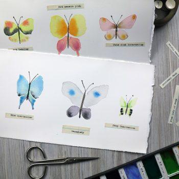 Paint a Flutter of Ethereal Watercolour Butterflies