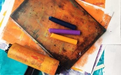 Make Your Own Collage Papers using a Gelli Plate