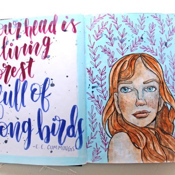Bonus – How to Use Sketched Faces in Your Art Journal