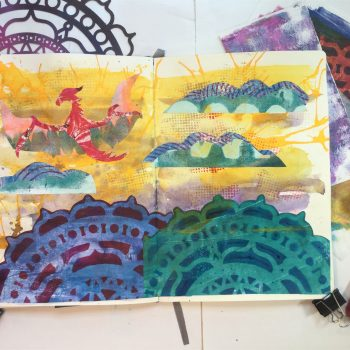 Let's Get Fancy:  Taking collage further with your Gelli Plate