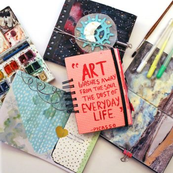 A guide to working with themed art journals