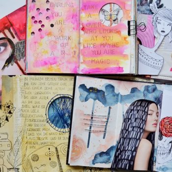 Including interactive elements in your art journal pages