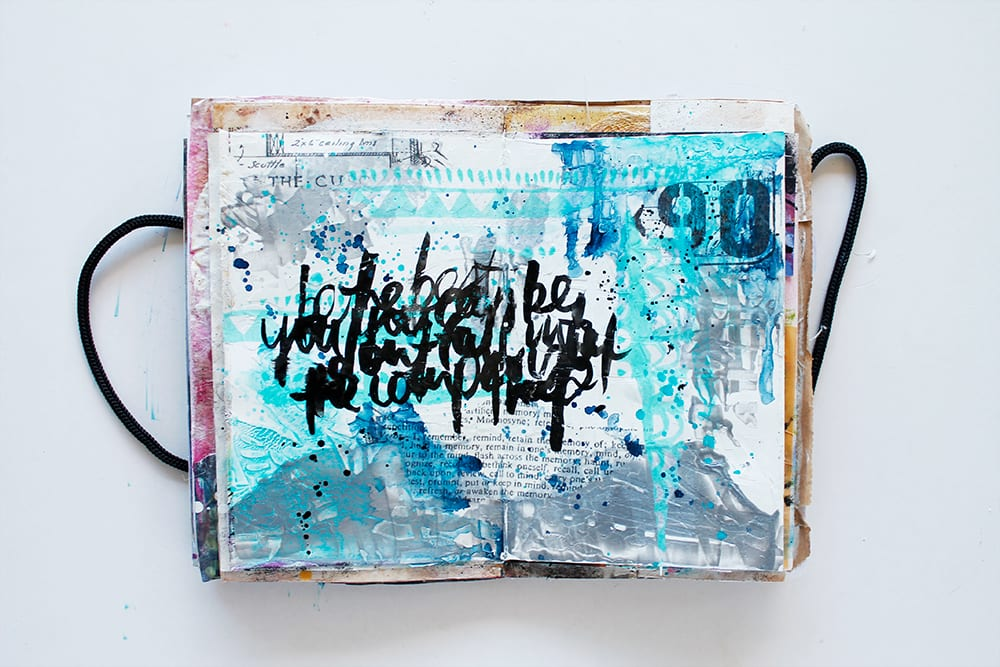 Create texture in your art journal using minimal supplies