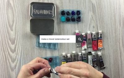 How to make a travel watercolour set – Ask an Artist 004