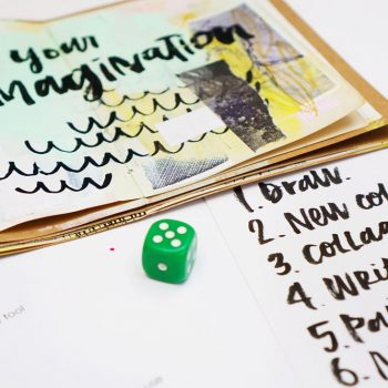 Roll the art dice: a creative art journaling game