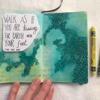 Obscuring journaling with mixed media layers