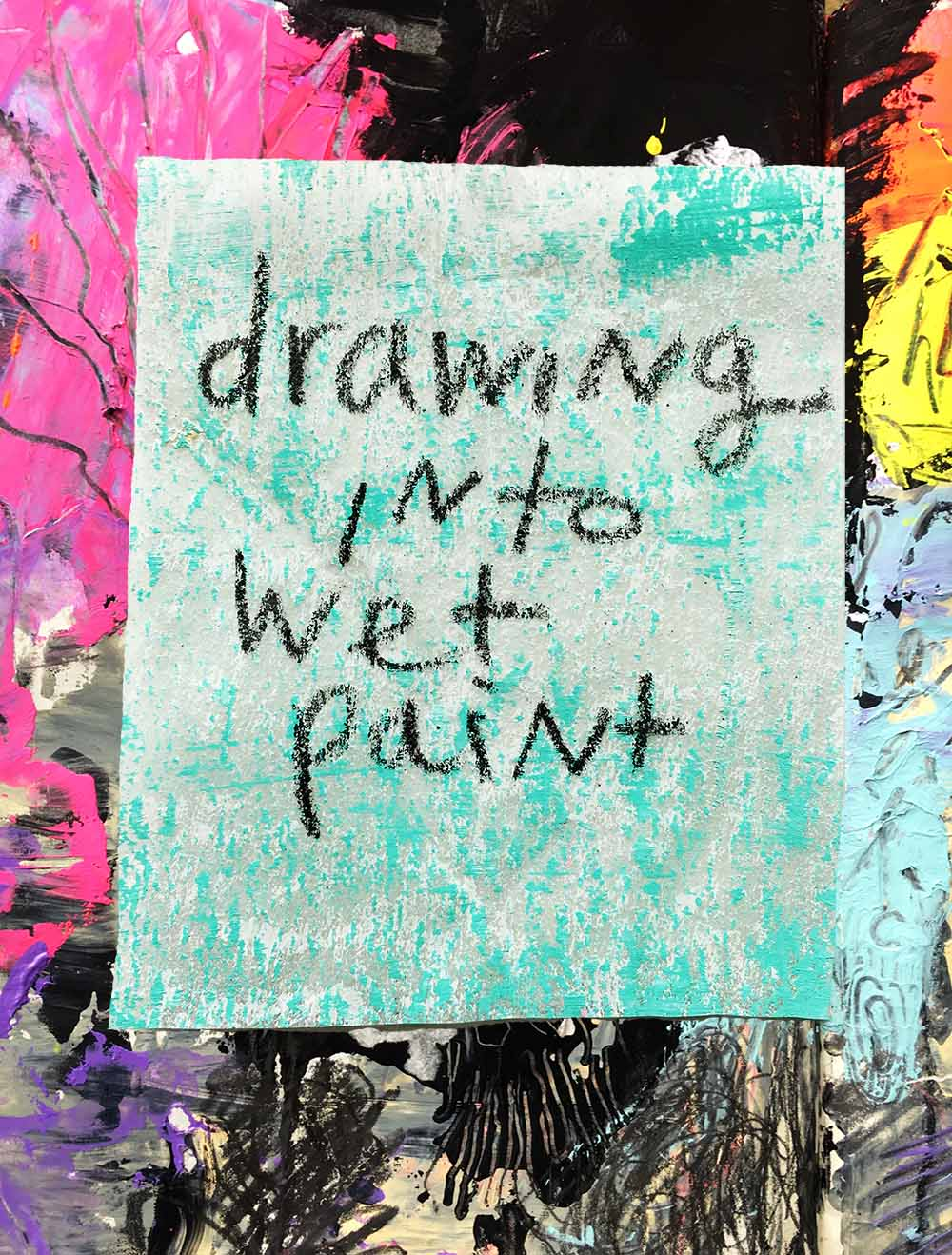 Level up your art by drawing into wet paint