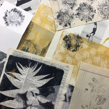 Leaf and flower gelli prints for all seasons