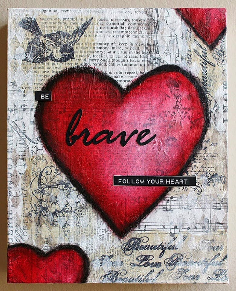 How to make a layered mixed media collage