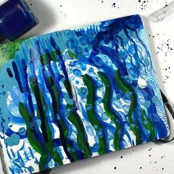 Techniques for using ink in your art journal