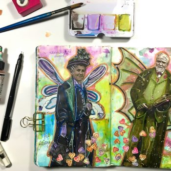 Imagining and creating fantastic creatures in your art journal