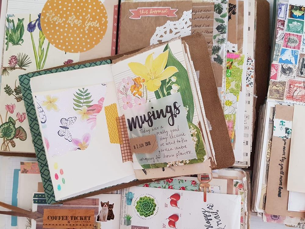 Floral Junk Journaling