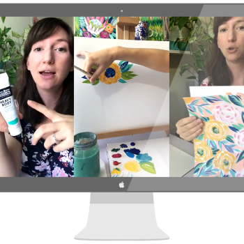 Paint Flowers with Julie