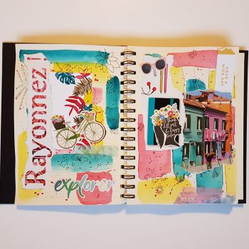 Turn your mood into an art journal page