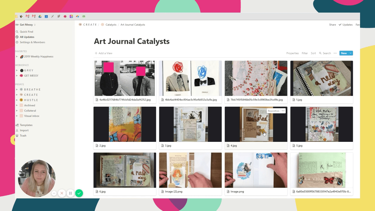 Find time to art journal by keeping a digital idea notebook
