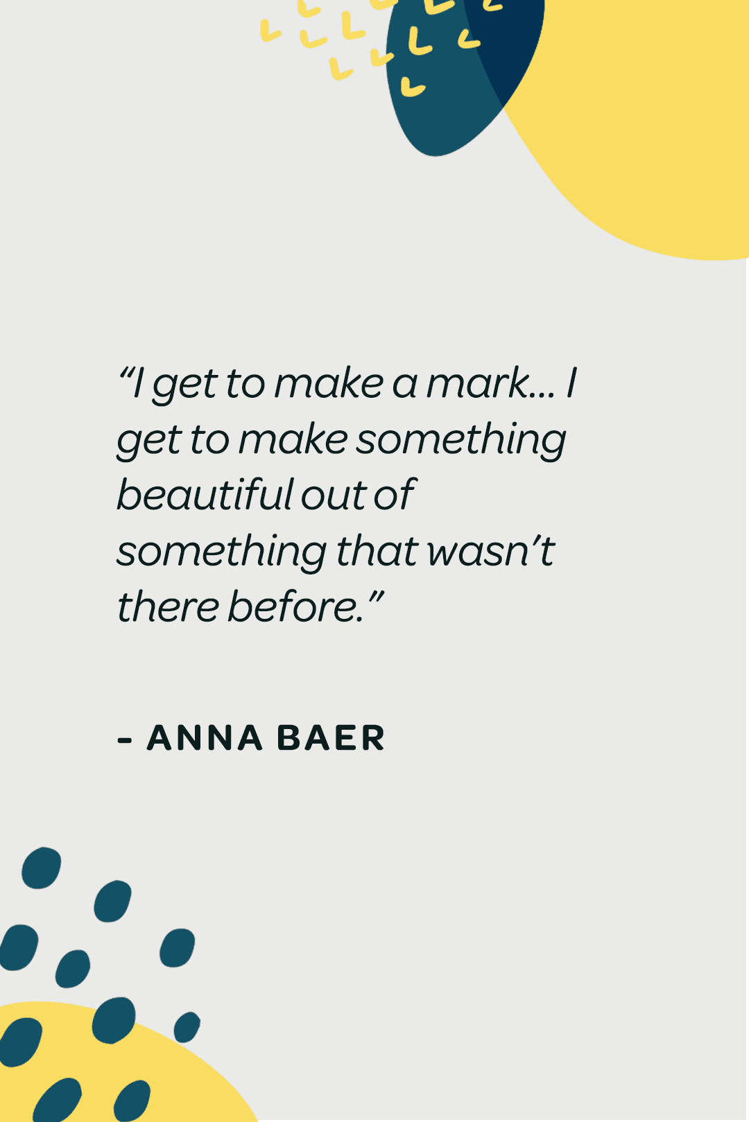 Take Time to Freaking Make with Anna Baer on the Get Messy Podcast