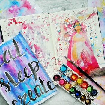 Painting dreamy watercolour backgrounds