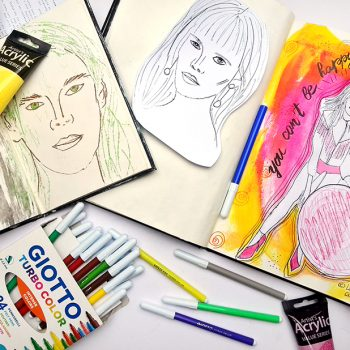 How to paint faces in your art journal