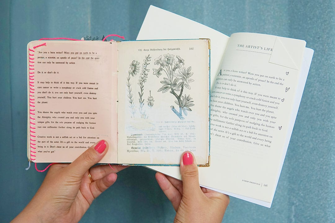 Quick tip: Processing a book for art