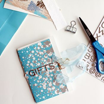 Make an upcycled journal from gift wrapping supplies