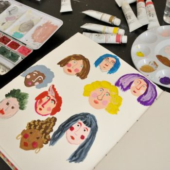 How to paint faces with gouache