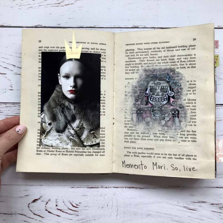 Fun ways to create in an altered vintage book