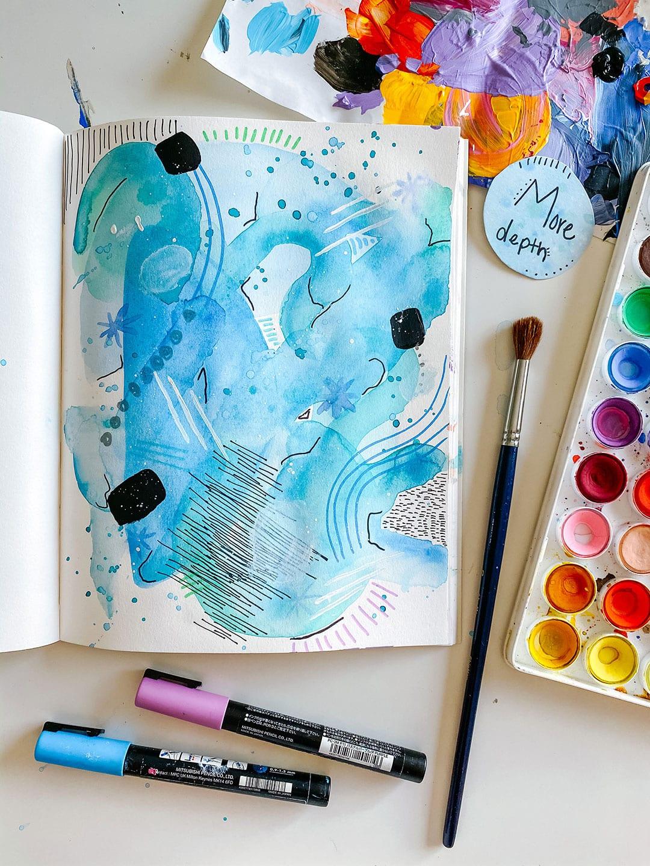 More Depth: Watercolor Layering