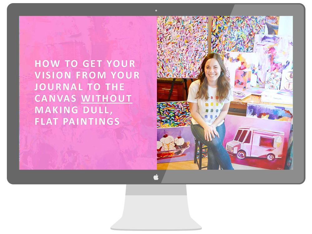 How to get your vision from the journal to the canvas
