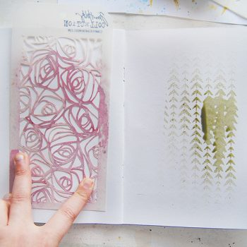 How to stencil with mists