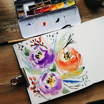 Loose Watercolor Flowers