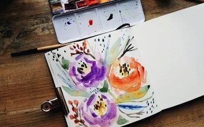 Loose Watercolor Flowers