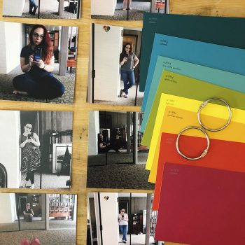 DIY a Mini Selfie Scrapbook with Paint Chips